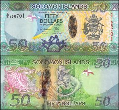 Solomon Islands 50 Dollars Banknote, 2013, P-35