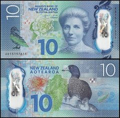 New Zealand 10 Dollars Banknote, 2015, P-192