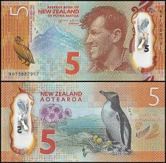 5 Dollars New Zealand's Banknote
