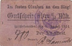 Germany/Notgeld ? Mark Banknote, 1914, P-Die:029.2a