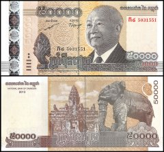 50,000 Riels Cambodia's Banknote