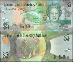 Cayman Islands 5 Dollars Banknote, 2010, P-39a