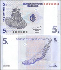 5 Centimes Congo's Banknote
