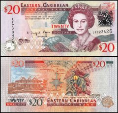 East Caribbean States 20 Dollars Banknote, 2008, P-49