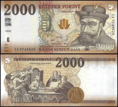 Hungary 2,000 Forint Banknote, 2016, P-204a