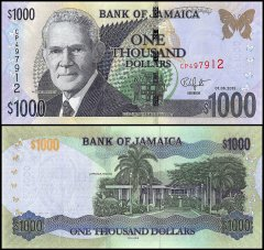 1,000 Dollars Jamaica's Banknote