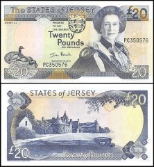 Jersey 20 Pounds Banknote, 2000, P-29