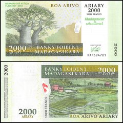 2,000 Ariary Madagascar's Banknote