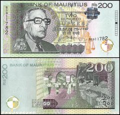 Mauritius 200 Rupees Banknote, 2013, P-61b