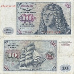 Germany/Federal Republic 10 Deutsche Mark Banknote, 1970, P-31a.2