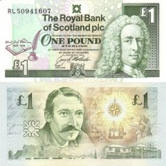 Scotland 1 Pound Sterling Banknote, 1994, P-358a