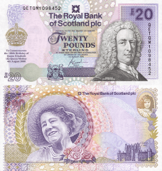 Scotland 20 Pounds Banknote, 2000, P-361