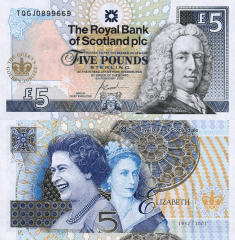 5 Pounds Scotland's Banknote