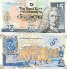 Scotland 5 Pounds Banknote, 2004, P-363