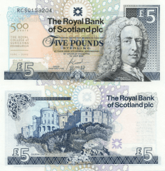 Scotland 5 Pounds Banknote, 2005, P-364
