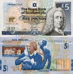 Scotland 5 Pounds Banknote, 2005, P-365