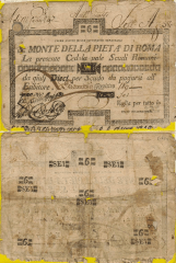 6 Scudi Papal States's Banknote