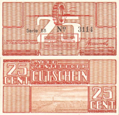 Netherlands 25 Cents Banknote, 1944, P-UNLISTED