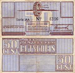 Netherlands 50 Cents Banknote, 1944, P-UNLISTED