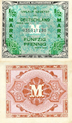 1/2 Mark Germany's Banknote