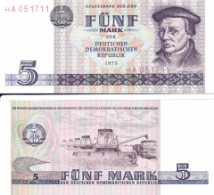 5 Mark der DDR Germany/Democratic Republic's Banknote