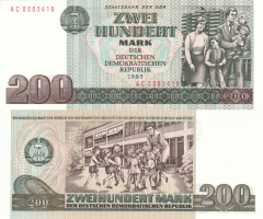 200 Mark der DDR Germany/Democratic Republic's Banknote