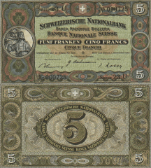 5 Franken Switzerland's Banknote