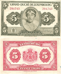 5 Francs Luxembourg's Banknote