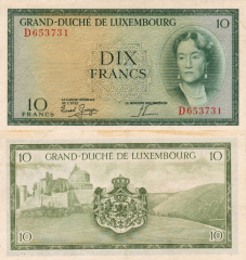 10 Francs Luxembourg's Banknote