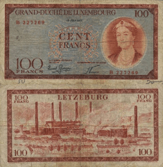 100 Francs Luxembourg's Banknote