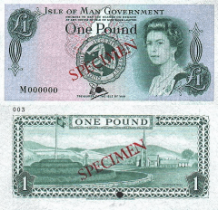 1 Pound Isle of Man's Banknote