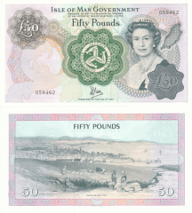 50 Pounds Isle of Man's Banknote