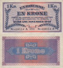 1 Krone Faeroe Islands's Banknote