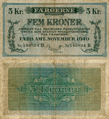 5 Kroner Faeroe Islands's Banknote