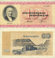 100 Kronur Faeroe Islands's Banknote
