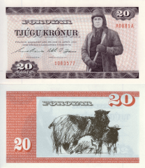 20 Kronur Faeroe Islands's Banknote