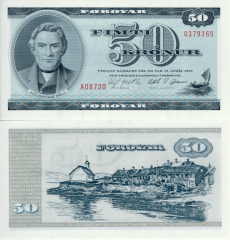50 Kronur Faeroe Islands's Banknote