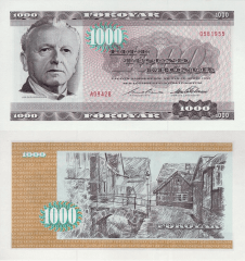 1,000 (1000) Kronur Faeroe Islands's Banknote