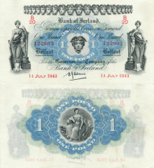 1 Pound Ireland/Northern's Banknote
