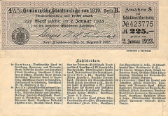 225 Mark Bond Germany/Notgeld's Banknote