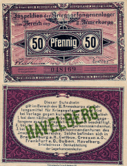 Germany/Notgeld 50 Pfennig Banknote, 1917, P-UNLISTED