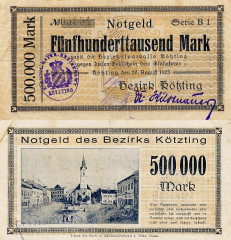 500,000 Mark Germany/Notgeld's Banknote