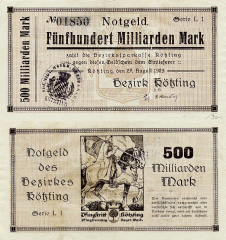 500 Milliard Mark Germany/Notgeld's Banknote