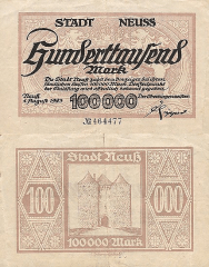 100,000 Mark Germany/Notgeld's Banknote
