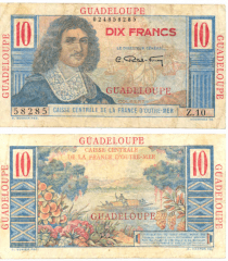 10 Francs Guadeloupe's Banknote