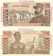 20 Francs Guadeloupe's Banknote