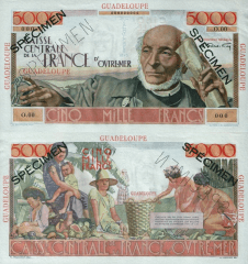 5,000 Francs Guadeloupe's Banknote