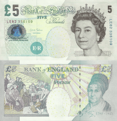 Great Britain/England 5 Pounds Banknote, 2002, P-391e