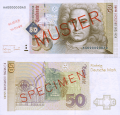 Germany/Federal Republic 50 Deutsche Mark Banknote, 1996, P-45s