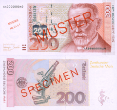 Germany/Federal Republic 200 Deutsche Mark Banknote, 1996, P-47s